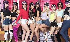 MAMACITAZ - Romanian Teen Julia De Lucia Goes Wild In A Hot Lesbian Latina Orgy