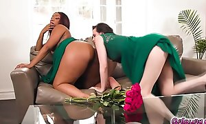 Casey Calvert comforts lonely bridesmaid Chanell Heart with her hot kisses and warm hugs