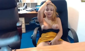 Natural beauty of emmafantasy21 on livecam. office role game scene. natural tits.