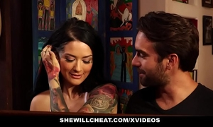 Shewillcheat - tatted amateur wife cheats on old spouse with youthful schlong