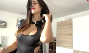 Fuck with Married slut in latex (home porn, cum on gazoo, nifty tits)