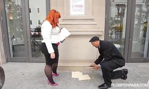 Big ass bbw redhead tiffany star bonks her recent boss