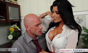 Office chick in high heels romi rain fucking