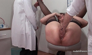 French squirt redhead gazoo inspected doublefist screwed at the gyneco
