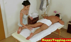 Real japanese masseuse pampering ding-dong