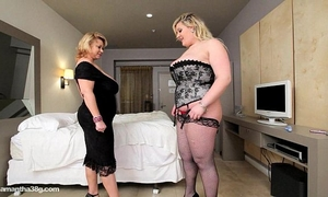 Bbw cougar dildos hot overweight breasty sweetheart in hotel room