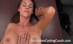 Big tit stripper dilettante anal & creampie casting