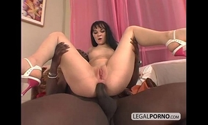 Big dark dick fucking a concupiscent brunette hair in the arse mg-1-01