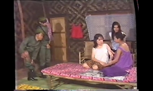 Thai army and village beauties