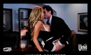 Stunning golden-haired maid samantha saint is screwed by her boss