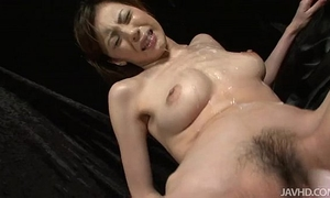 Slutty natsumi lies down widens her legs and is toyed