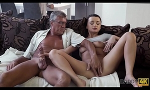 DADDY4K. Horny brunette unleashes all lust on boyfriend&#039_s old daddy