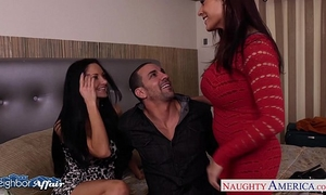 Hot neighbors ava addams and raylene take up with the tongue cunts...