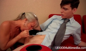 Stepmom bonks youthful son on prom night and takes his virginity - leilani lei