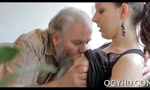 Young honey licked by an old guy-240p