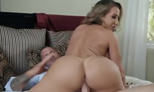 Hubbie and his wife nice blowjob sex act, hardcore fucking and cumshot