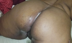 I had to fuck my aunts large chunky a-hole and cum on it