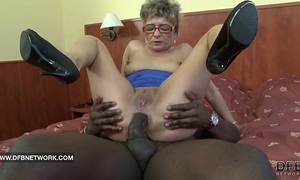 Granny craves to fuck a large dark rod