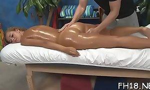Gorgeous hottie gets a hard fuck after a sensual massage