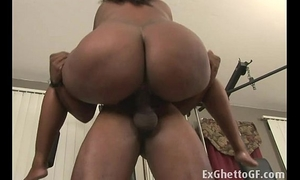 Big dark wife group-fucked in the gym