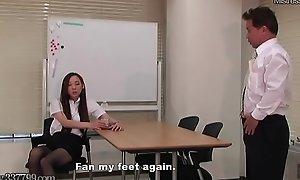 Japanese Femdom Foot Worship