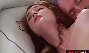Redhead stepdaughter priory ripple acquires group-fucked