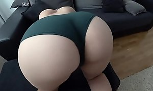 STUDENT WITH Chunky ASS FUCKS THROUGH THE GREEN PANTIES