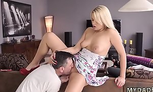 Daddy plays with partner'_ friend'_s daughter and mom xxx Sleepy guy