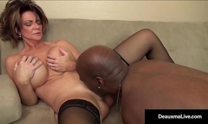Milf boss, deauxma, can't fire her most excellent worker's dark shlong!