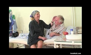 Granny watches grandad copulates nurse in hospital